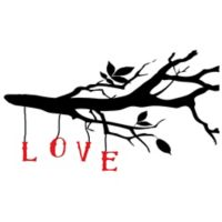 Courtside Market Love Branch 30-Inch x 20-Inch Wall Decal