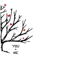 """Courtside Market """"You and Me"""" Tree Wall Decal"""