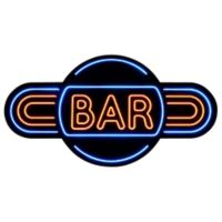 """Bar"" Lighted Wall Art"