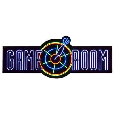 """Game Room"" Lighted Wall Art"