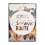 "Graham & Brown ""Always Take the Scenic Route"" 20-Inch x 28-Inch Printed Canvas Wall Art"