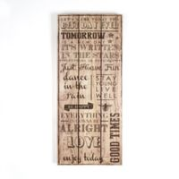 """Graham & Brown """"Best Day Ever"""" 12-Inch x 28-Inch Wood Wall Art"""