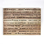 Life is Beautiful 28-Inch x 20-Inch Wood Wall Art