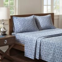 Buy Navy Patterned Sheets Bed Bath Beyond