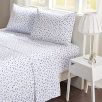 Mi Zone Stars Microfiber Twin Sheet Set in Navy