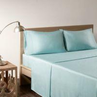 Sleep Philosophy Rayon Made From Bamboo King Sheet Set in Aqua