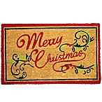 First Concept Merry Christmas 18-Inch x 30-Inch Door Mat