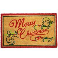 First Concept Merry Christmas 18-Inch x 30-Inch Door Mat