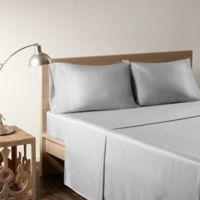 Sleep Philosophy Rayon Made From Bamboo California King Sheet Set in Grey