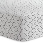 Kushies® Ornament Cotton Flannel Fitted Crib Sheet in Grey