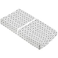 kushies® Arrow Cotton Flannel Changing Pad Cover in Black