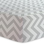 kushies® Chevron Cotton Flannel Changing Pad Cover in Grey