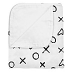 kushies® XOXO Cotton Flannel Reversible Crib Blanket in Black