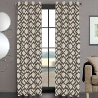 Ryder 108-Inch Grommet Window Curtain Panel in Charcoal