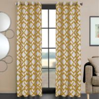 Ryder 108-Inch Grommet Window Curtain Panel in Gold