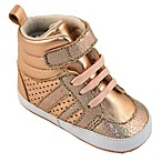 Rising Star™ Size 3-6M High-Top Shoe in Rose Gold