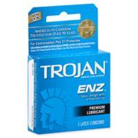 Trojan® ENZ™ 3-Count Lubricated Premium Latex Condoms