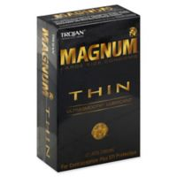Trojan® Magnum Thin 12-Count Large UltraSmooth Lubricant Latex Condoms