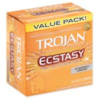 Trojan® Stimulations Ecstasy® 26-Count UltraSmooth Lubricant Premium Latex Condoms
