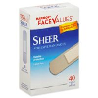 Harmon® Face Values® 40-Count 3/4-Inch Sheer Adhesive Fabric Bandage