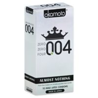 Okamoto® 10-Count .004 Lightly Lubricated Male Latex Condoms