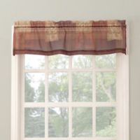 No. 918 Eden 14-Inch Straight Window Valance in Burgundy/Plum