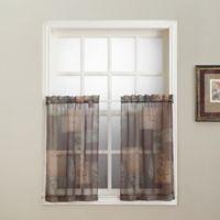 No. 918 Eden 24-Inch Window Curtain Tier Pair in Sage Green