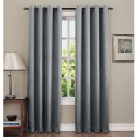 Sun Zero Hoffman 84-Inch Grommet Top Room Darkening Window Curtain Panel in Grey