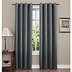 Sun Zero Hoffman 84-Inch Grommet Top Room Darkening Window Curtain Panel in Smoke