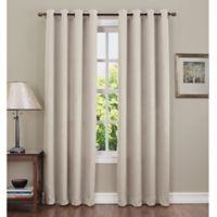 Sun Zero Hoffman 63-Inch Grommet Top Room Darkening Window Curtain Panel in Stone