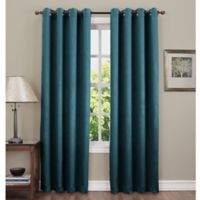 Sun Zero Hoffman 63-Inch Grommet Top Room Darkening Window Curtain Panel in Teal