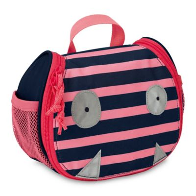 lassig little monsters mad mabel mini toiletry bag in pinkblue