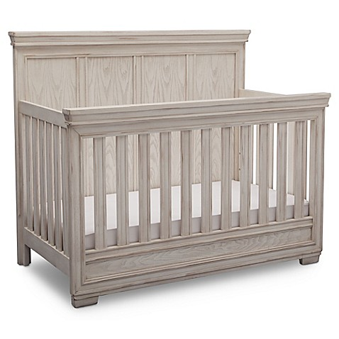 Simmons KidsR Ravello 4 In 1 Convertible Crib Antique White