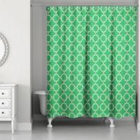 Designs Direct Preppy Stitch 71-Inch x 74-Inch Shower Curtain in Green