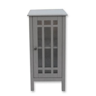 Polder® Bathroom Floor Cabinet With Glass Door In Grey