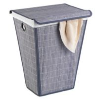 Wenko Conical Laundry Bin with Lid in Grey