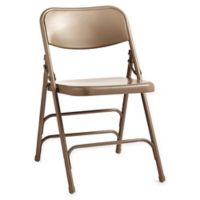 Steel Folding Chairs in Neutral (Set of 4)