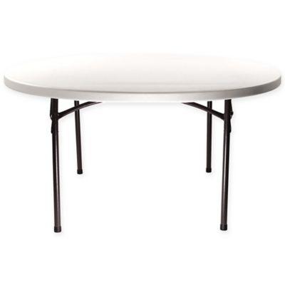 Samsonite® 72 Inch Round Plastic Folding Table In White