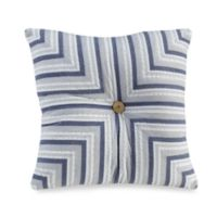 Seaside Stripe 14-Inch Square Throw Pillow