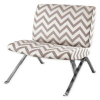 Monarch Specialties Faux Leather Accent Chair in Taupe