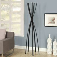 72-Inch Metal Coat Rack in Black