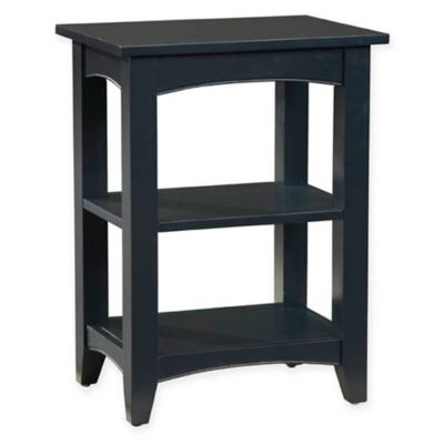 Delightful Shaker Cottage 2 Shelf End Table In Charcoal Grey