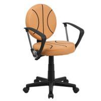 Flash Furniture Sports Task Chair in Black/Orange