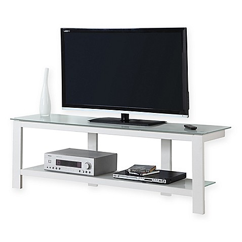 monarch specialties tv stand. Monarch Specialties Tempered Glass 60-Inch TV Stand In White Tv