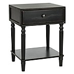 Safavieh Siobhan 1-Drawer End Table in Black