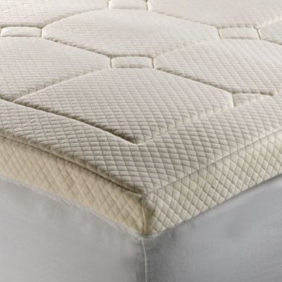 Theic Luxury Quilted Deluxe 3 Inch Memory Foam Full Bed Topper In Beige