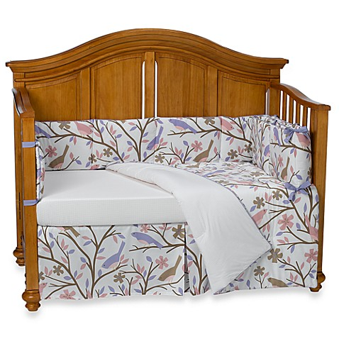 Dwell Studio Sparrow Lilac Piece Crib Bedding Set Bed Bath