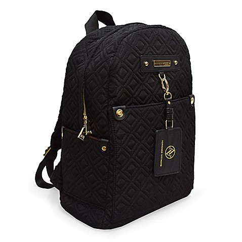 Adrienne Vittadini Quilted Backpack in Black