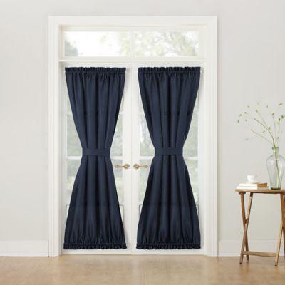918 Montego Casual Textured 72-Inch Rod Pocket Door Curtain Panel in Navy & Buy Window Door Panel from Bed Bath \u0026 Beyond Pezcame.Com