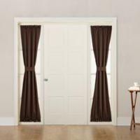 Sun Zero Bella 72-Inch Rod Pocket Room Darkening Sidelight Door Panel in Chocolate